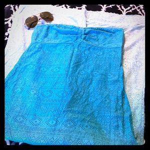 EUC🌺 Roxy strapless ombré Beach chic dress